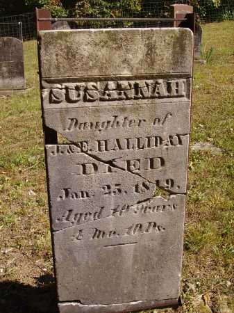 HALLIDAY, SUSANNAH - Meigs County, Ohio | SUSANNAH HALLIDAY - Ohio Gravestone Photos