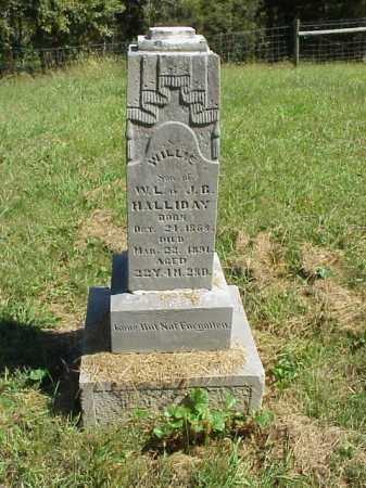 HALLIDAY, WILLIE - Meigs County, Ohio | WILLIE HALLIDAY - Ohio Gravestone Photos