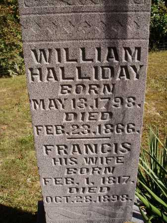 HALLIDAY, FRANCIS - Meigs County, Ohio | FRANCIS HALLIDAY - Ohio Gravestone Photos