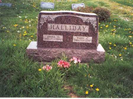HALLIDAY, WAID C. - Meigs County, Ohio | WAID C. HALLIDAY - Ohio Gravestone Photos