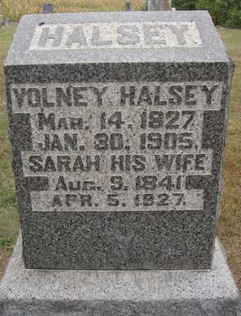 HALSEY, VOLNEY - Meigs County, Ohio | VOLNEY HALSEY - Ohio Gravestone Photos