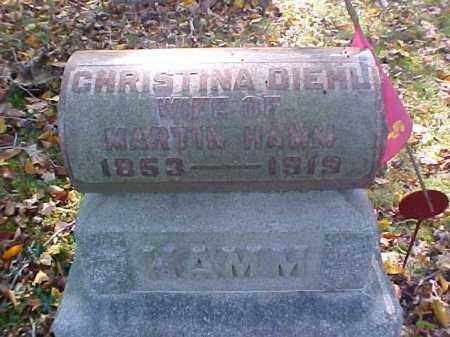 DIEHL HAMM, CHRISTINA - Meigs County, Ohio | CHRISTINA DIEHL HAMM - Ohio Gravestone Photos