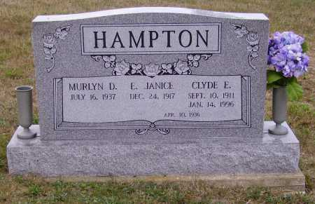 HAMPTON, E. JANICE - Meigs County, Ohio | E. JANICE HAMPTON - Ohio Gravestone Photos