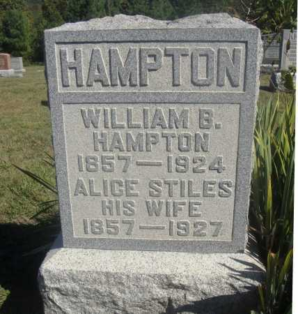 STILES HAMPTON, ALICE - Meigs County, Ohio | ALICE STILES HAMPTON - Ohio Gravestone Photos