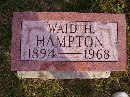 HAMPTON, WAID HARLEY - Meigs County, Ohio | WAID HARLEY HAMPTON - Ohio Gravestone Photos
