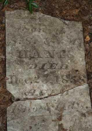 HANES, UNKNOWN - Meigs County, Ohio | UNKNOWN HANES - Ohio Gravestone Photos