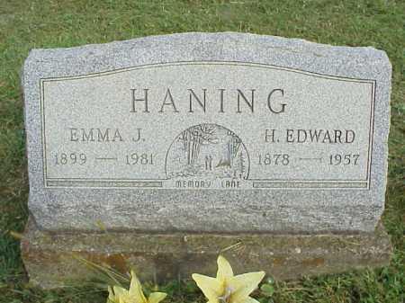 HANING, H. EDWARD - Meigs County, Ohio | H. EDWARD HANING - Ohio Gravestone Photos