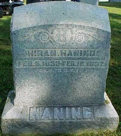 HANING, HIRAM - Meigs County, Ohio | HIRAM HANING - Ohio Gravestone Photos