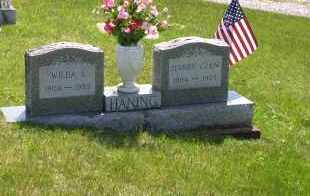 HANING, WILDAA IDILLA - Meigs County, Ohio | WILDAA IDILLA HANING - Ohio Gravestone Photos