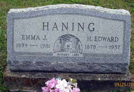 HANING, H. EDWARD - Meigs County, Ohio | H. EDWARD HANING - Ohio Gravestone Photos