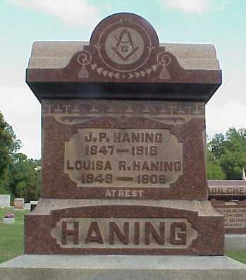HANING, J.P. - Meigs County, Ohio | J.P. HANING - Ohio Gravestone Photos