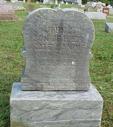 HANING, JOHN G. - Meigs County, Ohio | JOHN G. HANING - Ohio Gravestone Photos