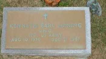 HANING, KENNETH EARL - Meigs County, Ohio   KENNETH EARL HANING - Ohio Gravestone Photos