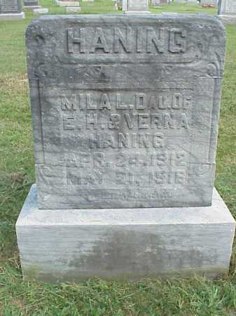 HANING, MILA L. - Meigs County, Ohio | MILA L. HANING - Ohio Gravestone Photos