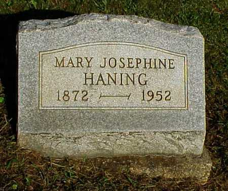 HANING, MARY JOSEPHINE - Meigs County, Ohio | MARY JOSEPHINE HANING - Ohio Gravestone Photos