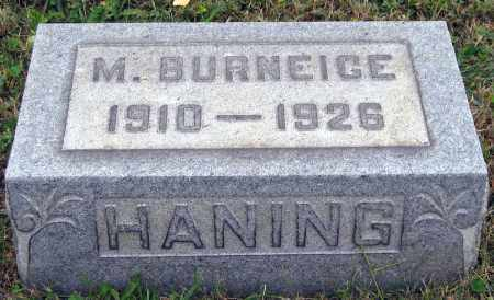 HANING, M. BURNEIGE - Meigs County, Ohio | M. BURNEIGE HANING - Ohio Gravestone Photos