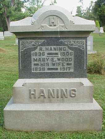 HANING, R. - Meigs County, Ohio | R. HANING - Ohio Gravestone Photos