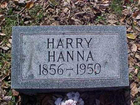 HANNA, HARRY - Meigs County, Ohio | HARRY HANNA - Ohio Gravestone Photos