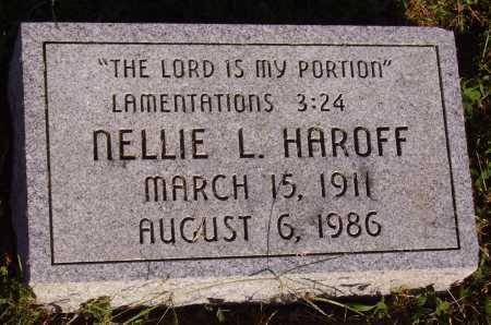 HAROFF, NELLIE L. - Meigs County, Ohio | NELLIE L. HAROFF - Ohio Gravestone Photos