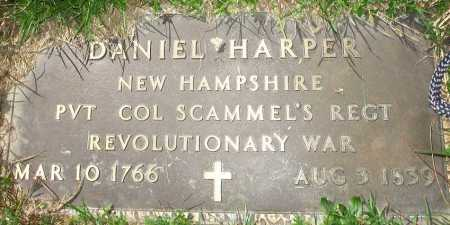 HARPER, DANIEL - Meigs County, Ohio | DANIEL HARPER - Ohio Gravestone Photos