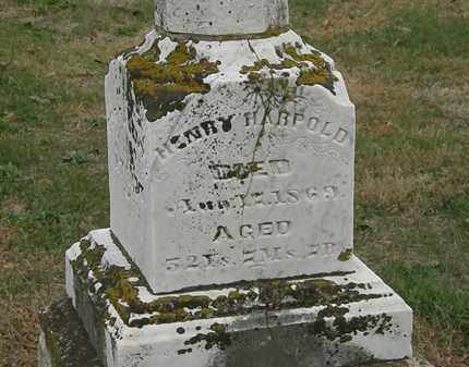 HARPOLD, HENRY - Meigs County, Ohio | HENRY HARPOLD - Ohio Gravestone Photos