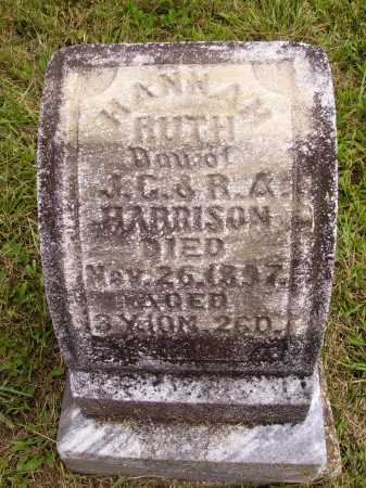 HARRISON, HANNAH RUTH - Meigs County, Ohio | HANNAH RUTH HARRISON - Ohio Gravestone Photos