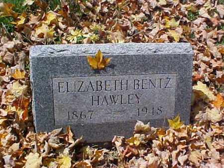 BENTZ HAWLEY, ELIZABETH - Meigs County, Ohio | ELIZABETH BENTZ HAWLEY - Ohio Gravestone Photos