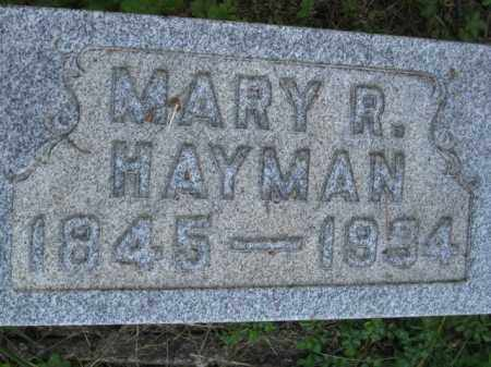 HAYMAN, MARY R - Meigs County, Ohio | MARY R HAYMAN - Ohio Gravestone Photos