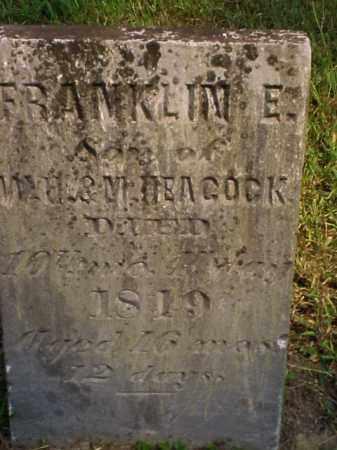 HEACOCK, FRANKLIN E. - Meigs County, Ohio | FRANKLIN E. HEACOCK - Ohio Gravestone Photos