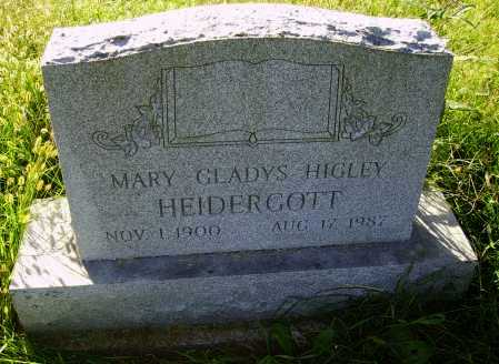 HIGLEY HEIDERGOTT, MARY GLADYS - Meigs County, Ohio | MARY GLADYS HIGLEY HEIDERGOTT - Ohio Gravestone Photos