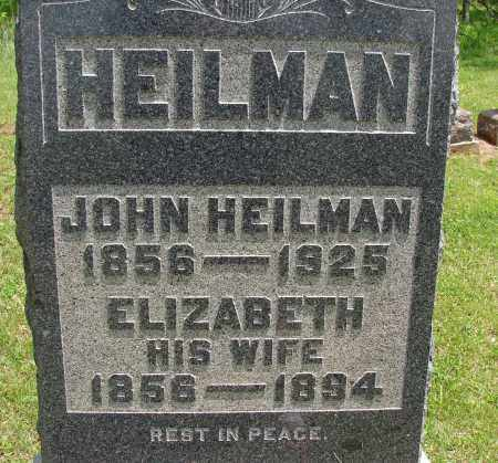 HEILMAN, ELIZABETH - Meigs County, Ohio | ELIZABETH HEILMAN - Ohio Gravestone Photos