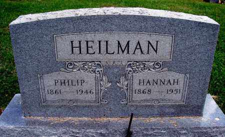 HEILMAN, HANNAH - Meigs County, Ohio | HANNAH HEILMAN - Ohio Gravestone Photos