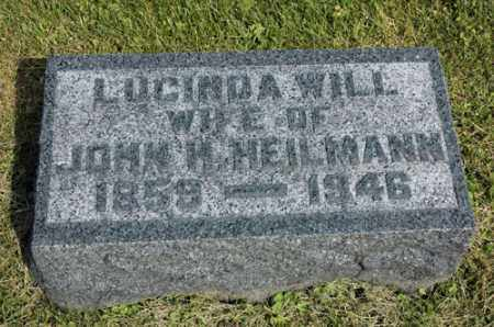 WILL HEILMANN, LUCINDA - Meigs County, Ohio | LUCINDA WILL HEILMANN - Ohio Gravestone Photos