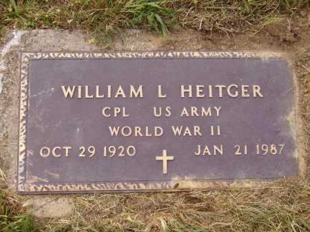 HEITGER, WILLIAM L. - MILITARY MARKER - Meigs County, Ohio | WILLIAM L. - MILITARY MARKER HEITGER - Ohio Gravestone Photos