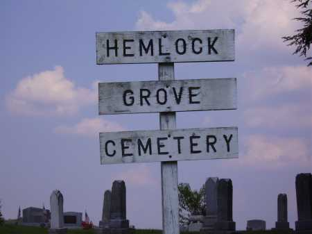 HEMLOCK GROVE, CEMETERY SIGN - VIEW #1 - Meigs County, Ohio | CEMETERY SIGN - VIEW #1 HEMLOCK GROVE - Ohio Gravestone Photos
