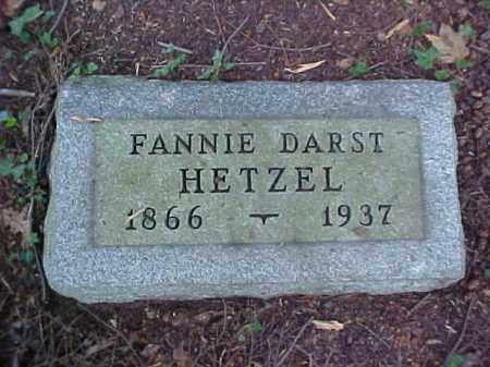 DARST HETZEL, FANNIE - Meigs County, Ohio | FANNIE DARST HETZEL - Ohio Gravestone Photos