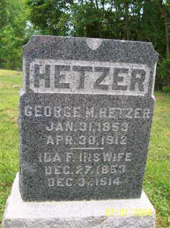 HETZER, IDA F. - Meigs County, Ohio | IDA F. HETZER - Ohio Gravestone Photos