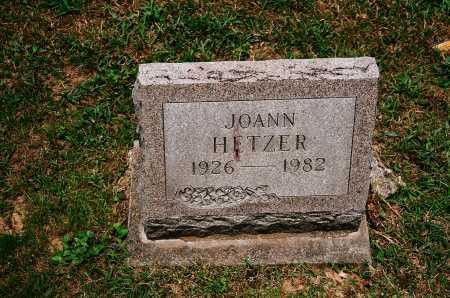 HETZER, JOANN - Meigs County, Ohio | JOANN HETZER - Ohio Gravestone Photos