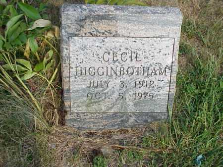 HIGGINBOTHAM, CECIL - Meigs County, Ohio | CECIL HIGGINBOTHAM - Ohio Gravestone Photos