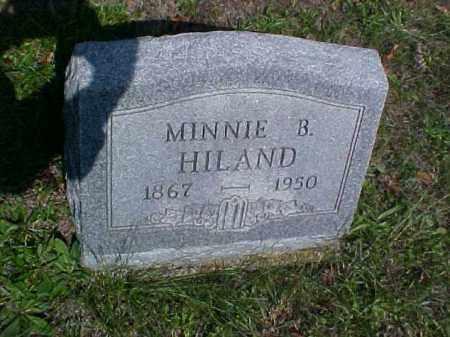 HILAND, MINNIE B. - Meigs County, Ohio | MINNIE B. HILAND - Ohio Gravestone Photos