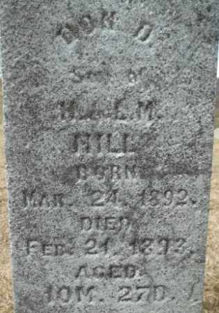 HILL, DON DAVIS - Meigs County, Ohio | DON DAVIS HILL - Ohio Gravestone Photos