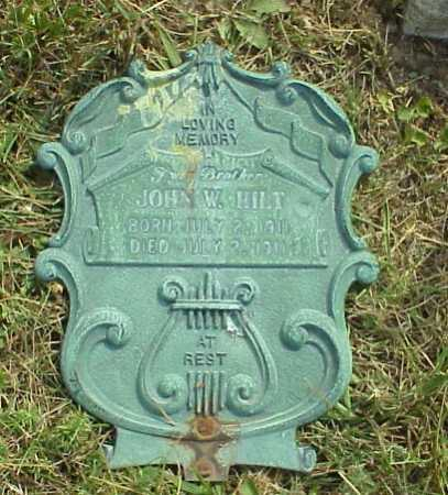 HILT, JOHN W. - Meigs County, Ohio | JOHN W. HILT - Ohio Gravestone Photos