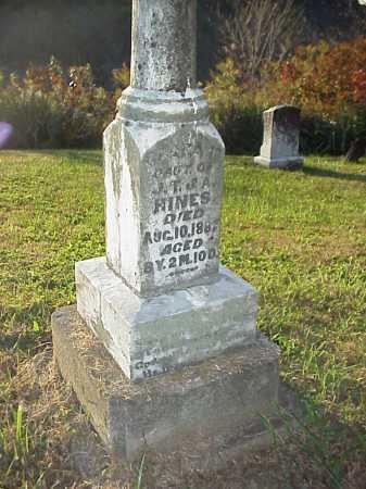 HINES, CLARA - Meigs County, Ohio | CLARA HINES - Ohio Gravestone Photos