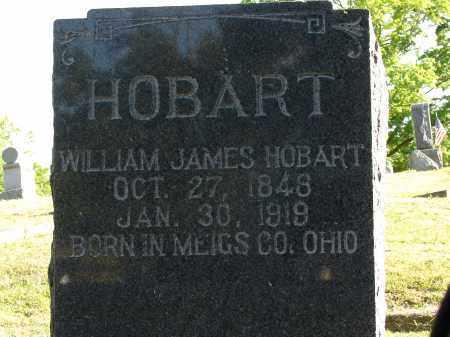 HOBART, WILLIAM JAMES - Meigs County, Ohio | WILLIAM JAMES HOBART - Ohio Gravestone Photos