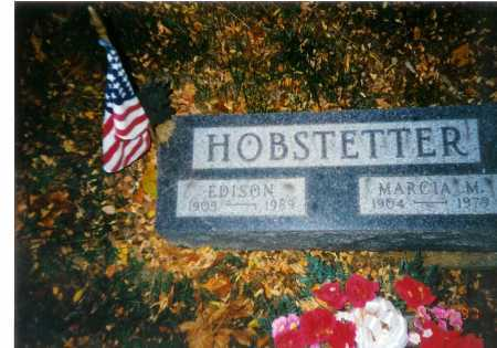 HOBSTETTER, EDISON - Meigs County, Ohio | EDISON HOBSTETTER - Ohio Gravestone Photos