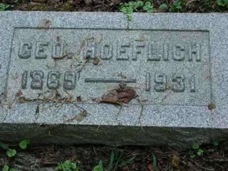 HOEFLICH, GEO. - Meigs County, Ohio | GEO. HOEFLICH - Ohio Gravestone Photos