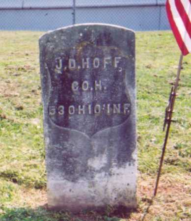 HOFF, J. D. - Meigs County, Ohio | J. D. HOFF - Ohio Gravestone Photos