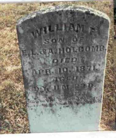 HOLCOMB, WILLIAM F. - Meigs County, Ohio | WILLIAM F. HOLCOMB - Ohio Gravestone Photos