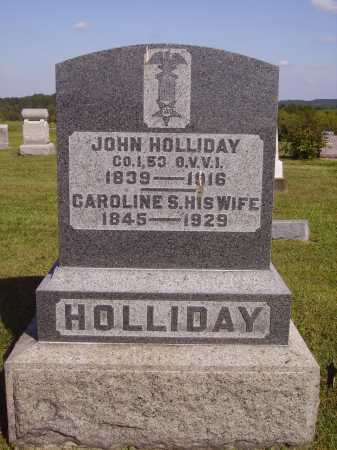 NELSON HOLLIDAY, CAROLINE S. - Meigs County, Ohio | CAROLINE S. NELSON HOLLIDAY - Ohio Gravestone Photos