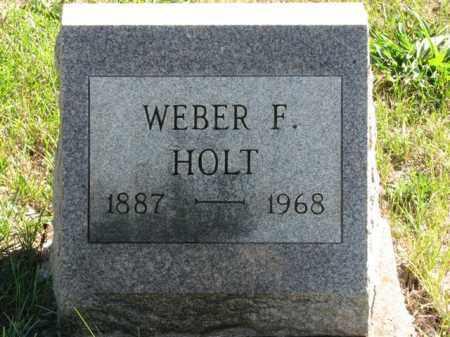 HOLT, WEBER F. - Meigs County, Ohio | WEBER F. HOLT - Ohio Gravestone Photos